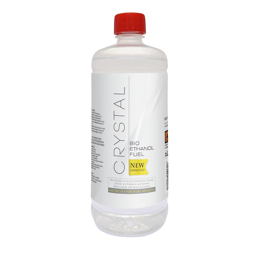 Crystal Bio Ethanol Fuel Bottles