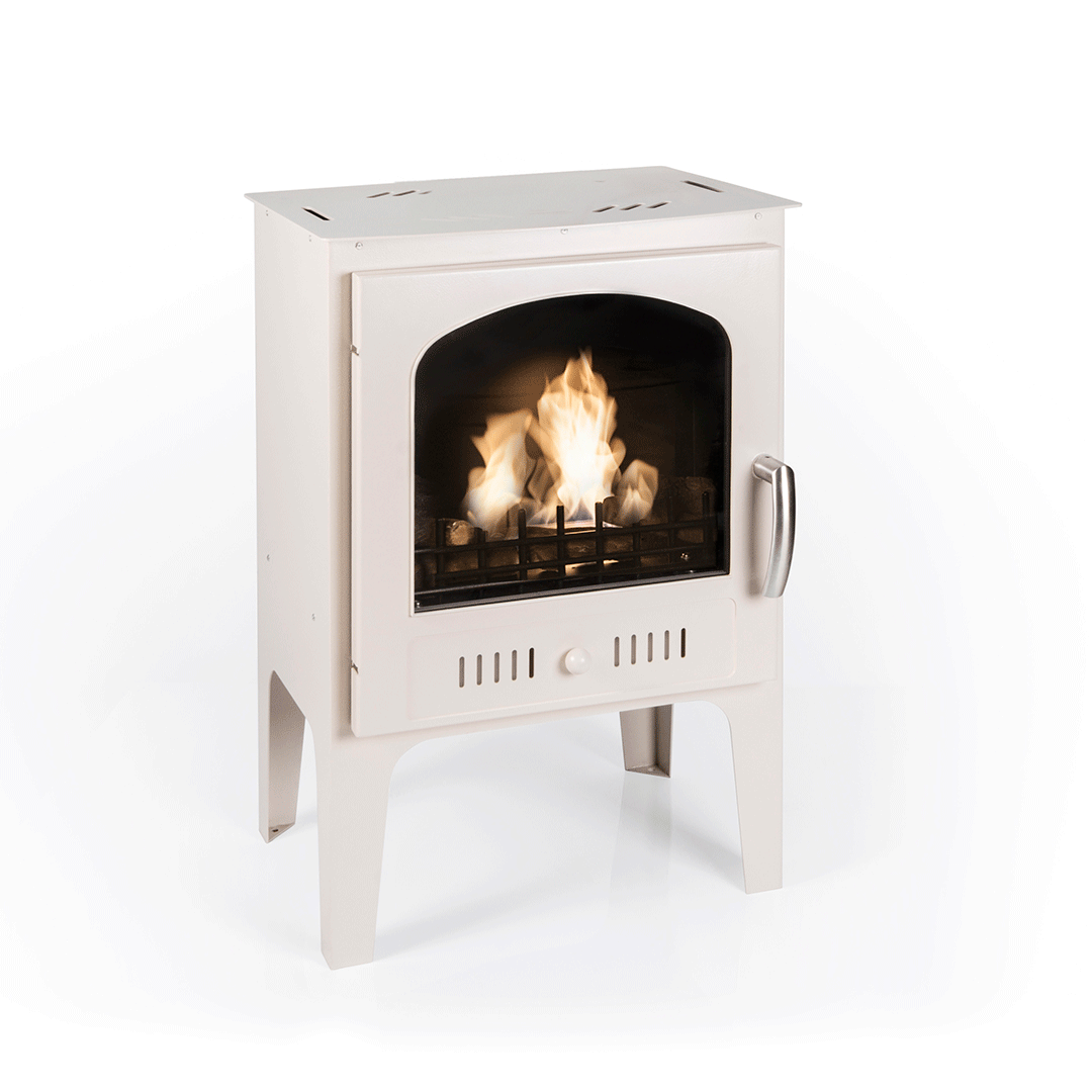 Pre Order Now Log Burner Effect Cream Traditional Bio Stove
